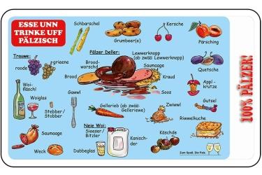 Frühstücksbrettchen - Essen und Trinken auf Pfälzisch -