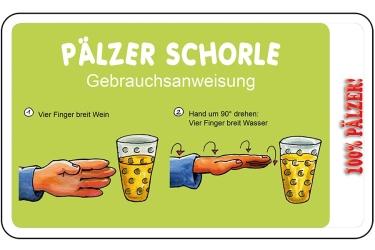 Frühstücksbrettchen - Pälzer Schorle -