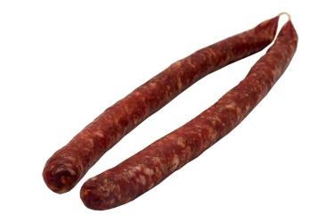 Hausgemachte mediterrane Salami, luftgetrocknet